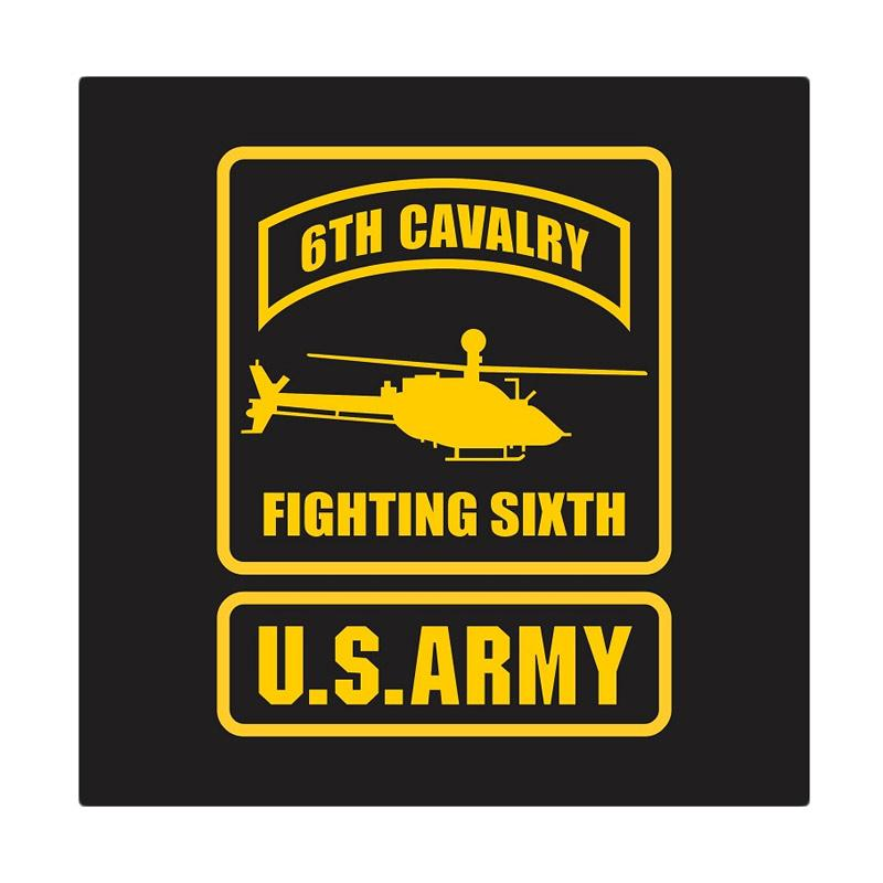 US Army 6th Cavalry Fighting Sixth Cutting Sticker