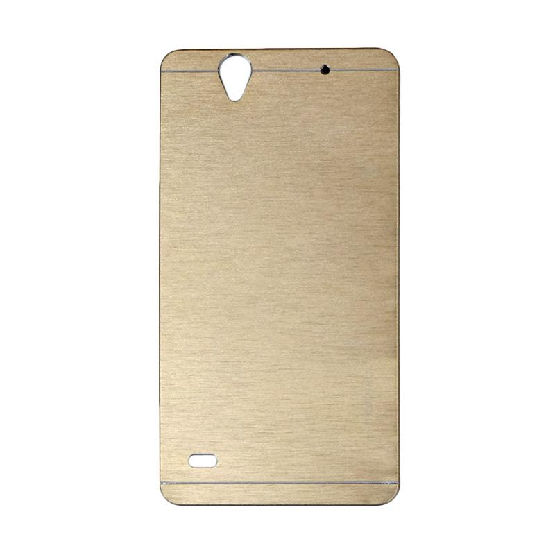 Motomo Metal Hardcase Casing for Sony Xperia C4 - Gold