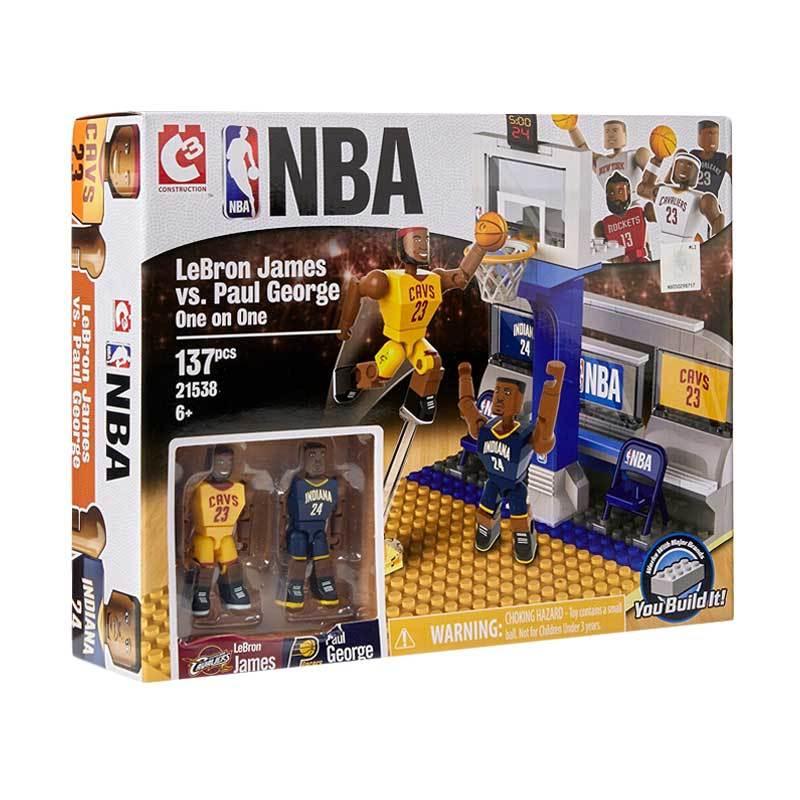 C3 NBA LeBron James vs. Paul George One on One Set Lego Style Blocks & Stacking Toys