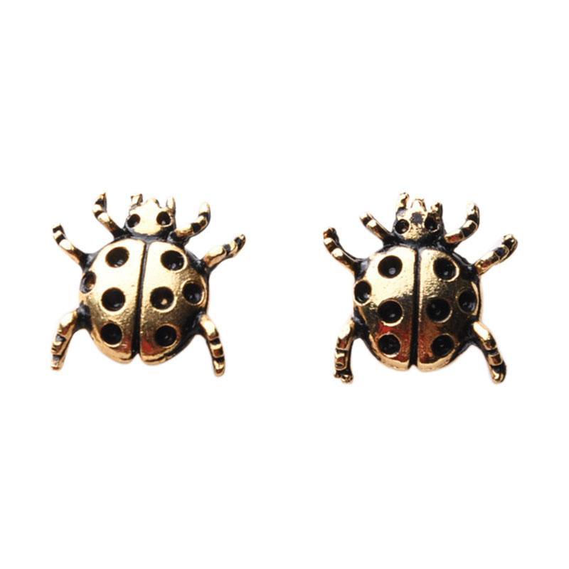 1901 Jewelry GW.4799.HR51 Polkadot Bug Studs Anting - Gold