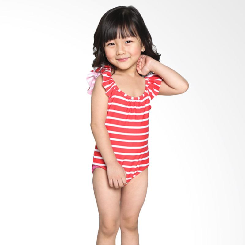 harga BO 854 GAP Swimwear Stripes Baju Renang Anak - Red Blibli.com