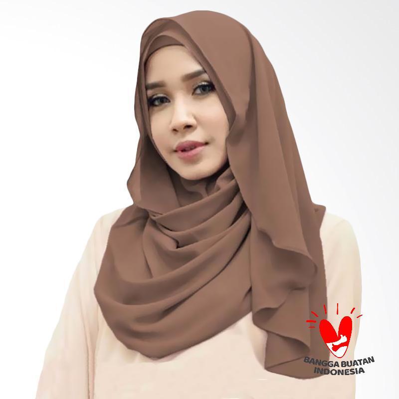 Milyarda Hijab Orchid Kerudung Instant - Coklat