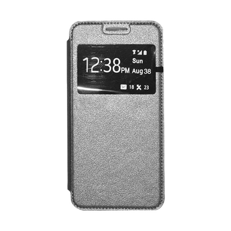 OEM Leather Book Cover Casing for Samsung Galaxy S5 - Grey