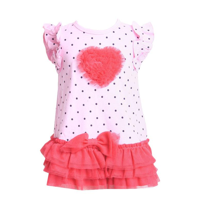 Chloe Babyshop F906 Dress Love Tutu + Pant - Pink