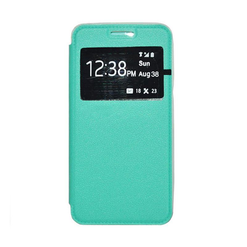 OEM Leather Book Cover Casing for Xiaomi Redmi Note 2 - Green