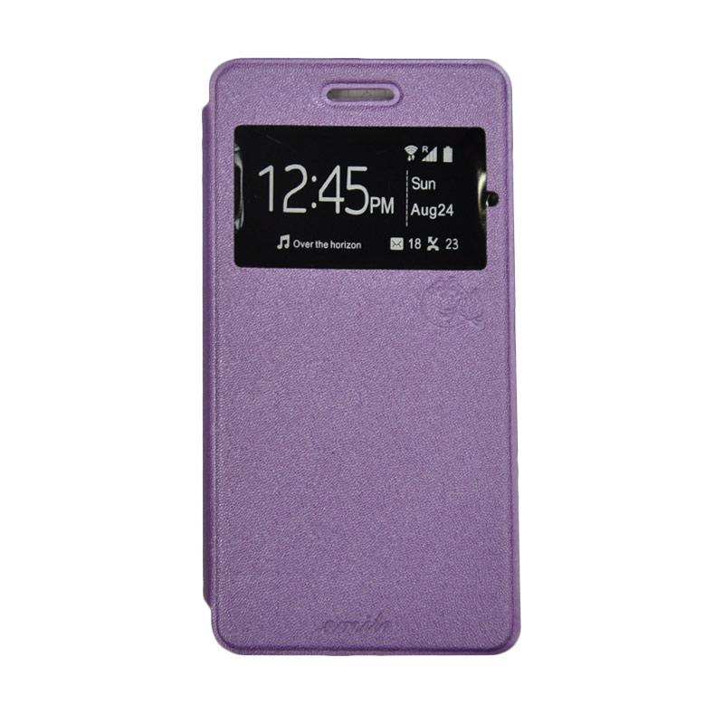 SMILE Standing Flip Cover Casing for Xiaomi Mi Max - Purple