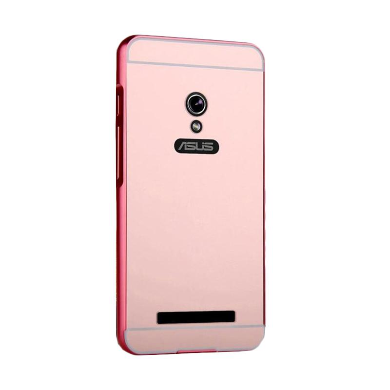Bumper Mirror Sliding Asus Zenfone 5 - Rose Gold