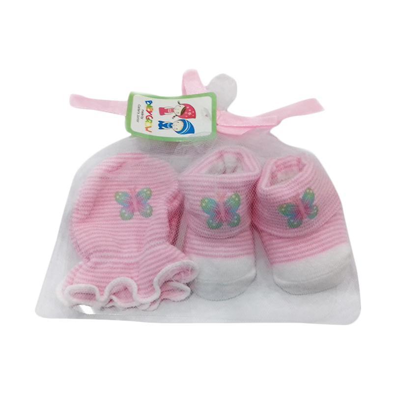 Chloebaby Shop S204 Mitten Booties Butterfly Sarung Tangan & Kaos Kaki