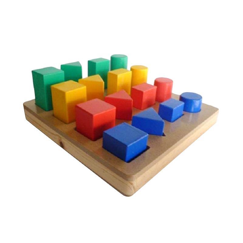 Wooden Toys Geo Bangun Bertingkat Mainan Anak