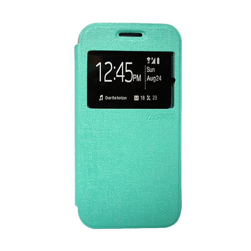 Zagbox Flip Cover Casing for Samsung Galaxy Note 7 - Hijau Tosca