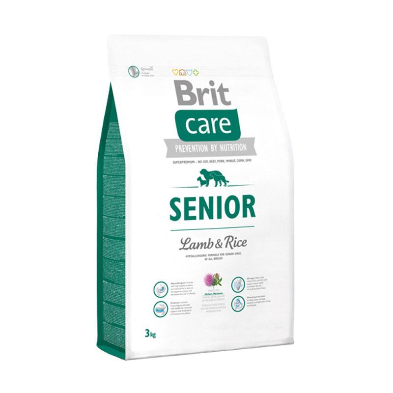 Brit Care Senior Lamb & Rice Super Premium Dog Food [3 kg]