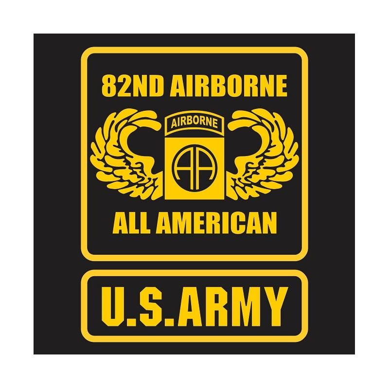 Kyle US Army 82nd Airborne Wing All American Cutting Sticker