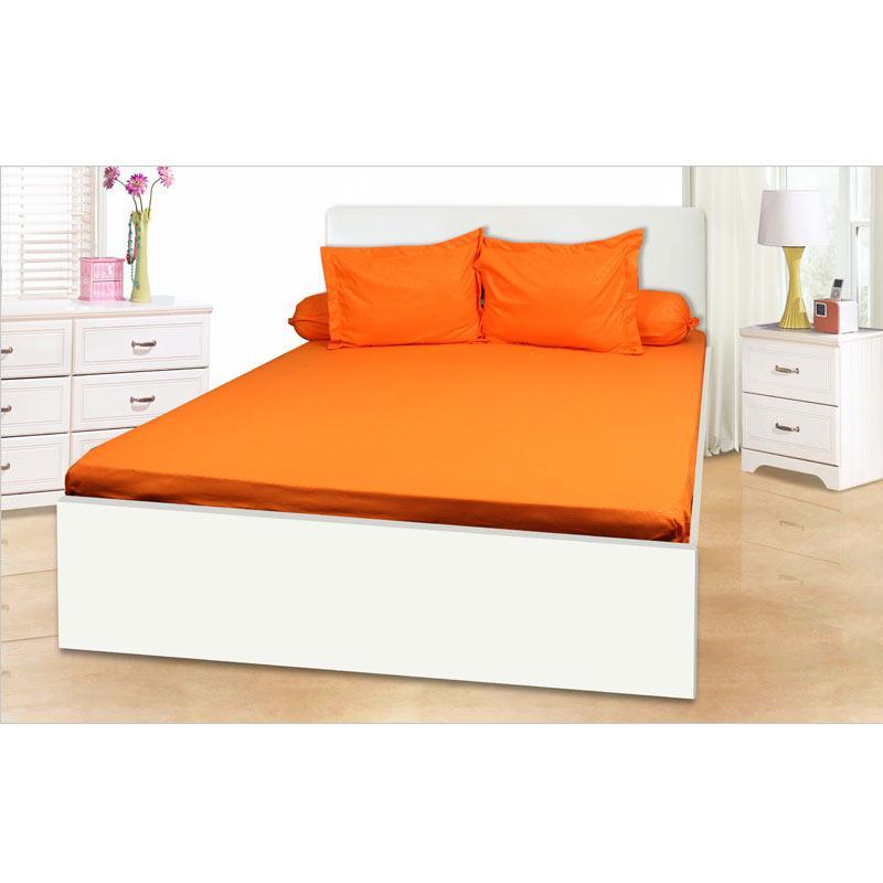 My Love Full Heart Polos Set Sprei - Orange [180 x 200 x 30 cm]