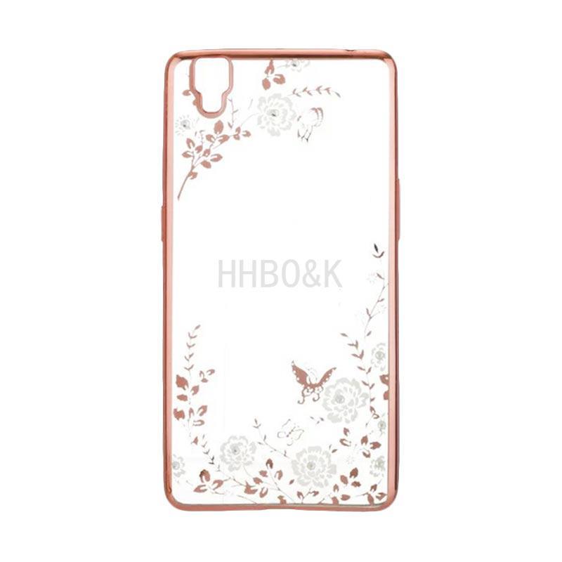OEM Flower Diamond Softcase Casing for Oppo F1S - Rose Gold
