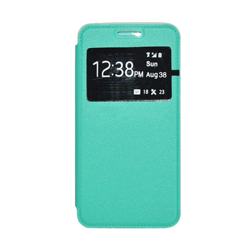 OEM Leather Book Cover Casing for Samsung Galaxy S5 - Green