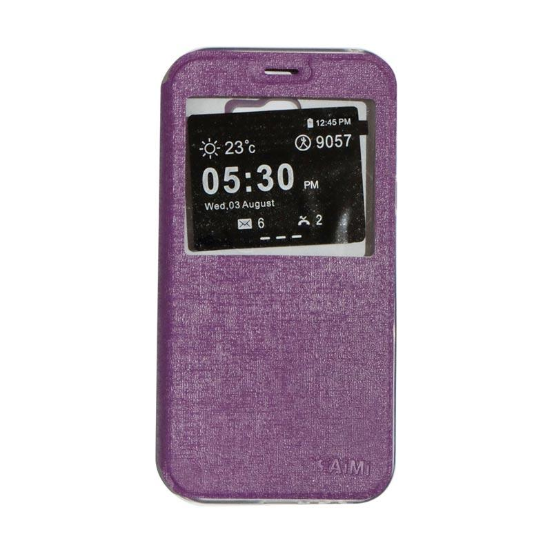 AIMI Flip Cover Casing for Samsung Galaxy A720 or A7 2017 - Purple
