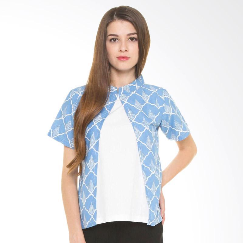 Djoemat Gembira Dg Seroeni Top Blue A16-11-03 Batik - Blue