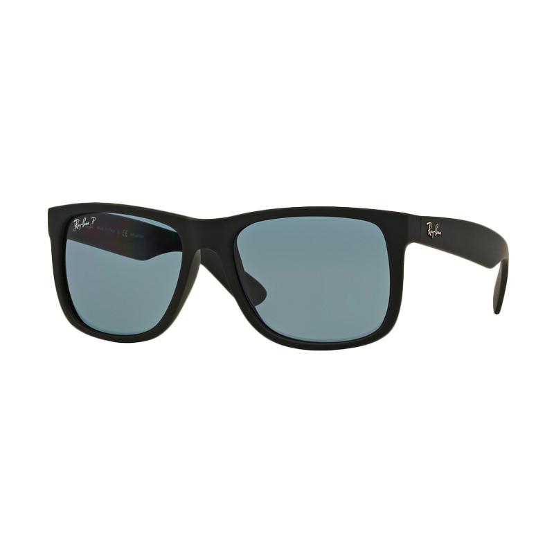 Ray-Ban Justin RB4165F Sunglasses - Black Rubber [622-2V/Size 55]