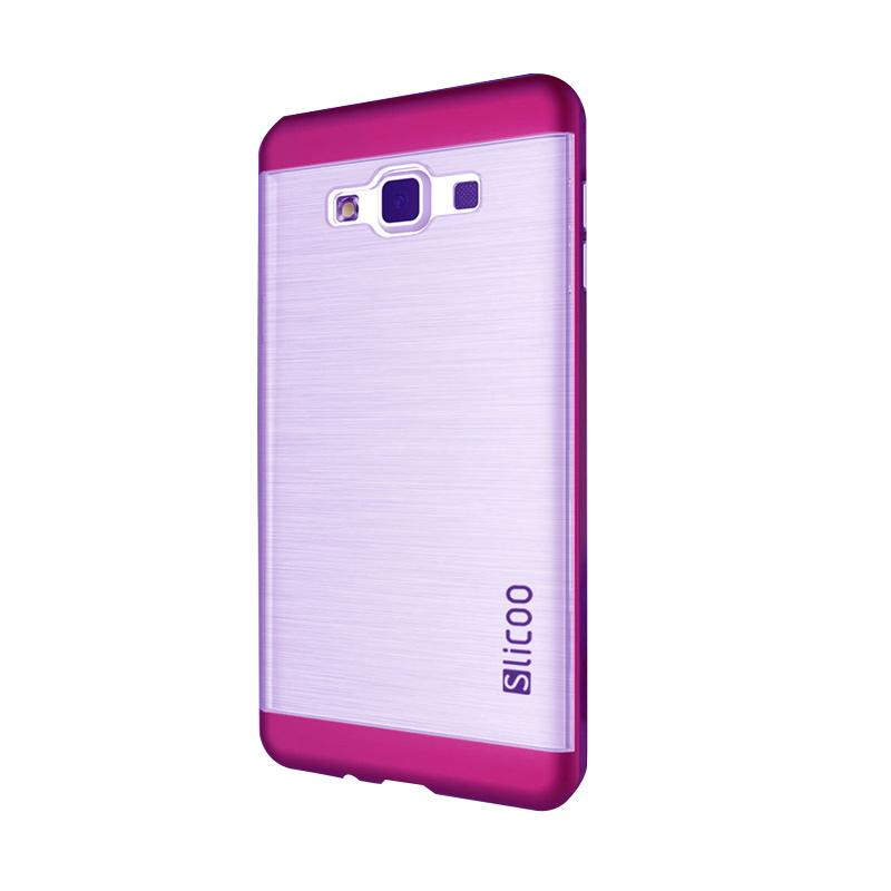 Slicoo Clear Side Cover Hardcase Casing for Samsung Galaxy A7 - Pink