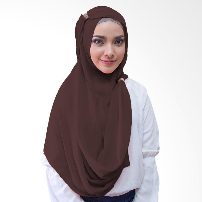 Milyarda Hijab Hana Ring Kerudung Instan - Coklat