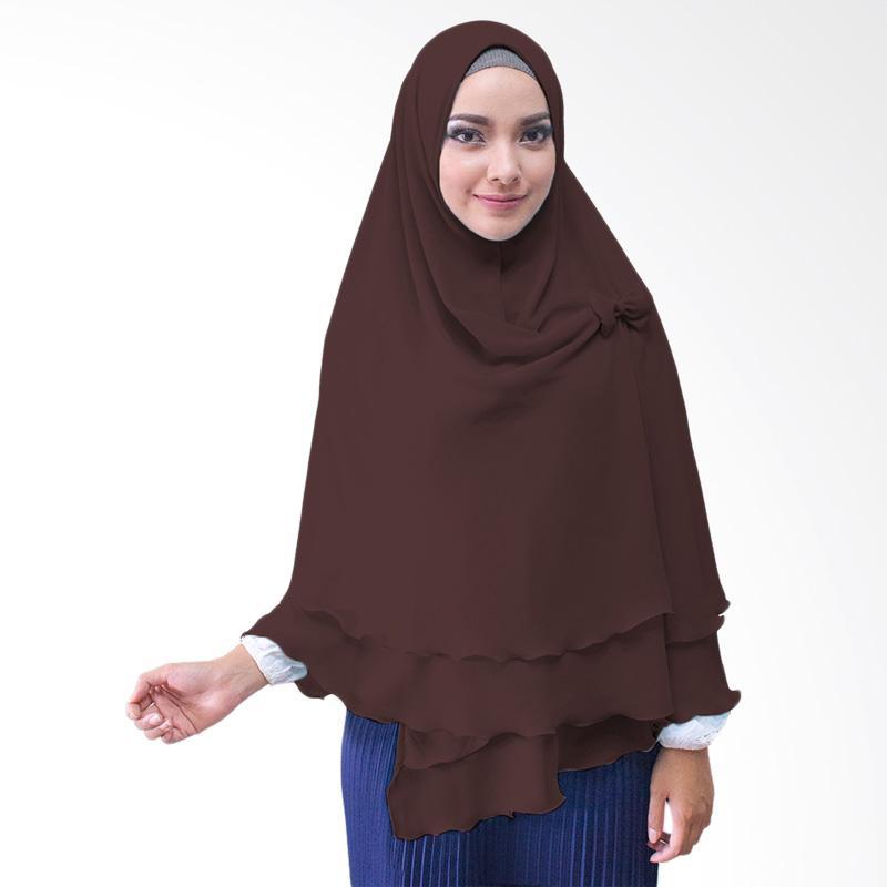 Milyarda Hijab Oki Kerudung Pita Instan - Coklat