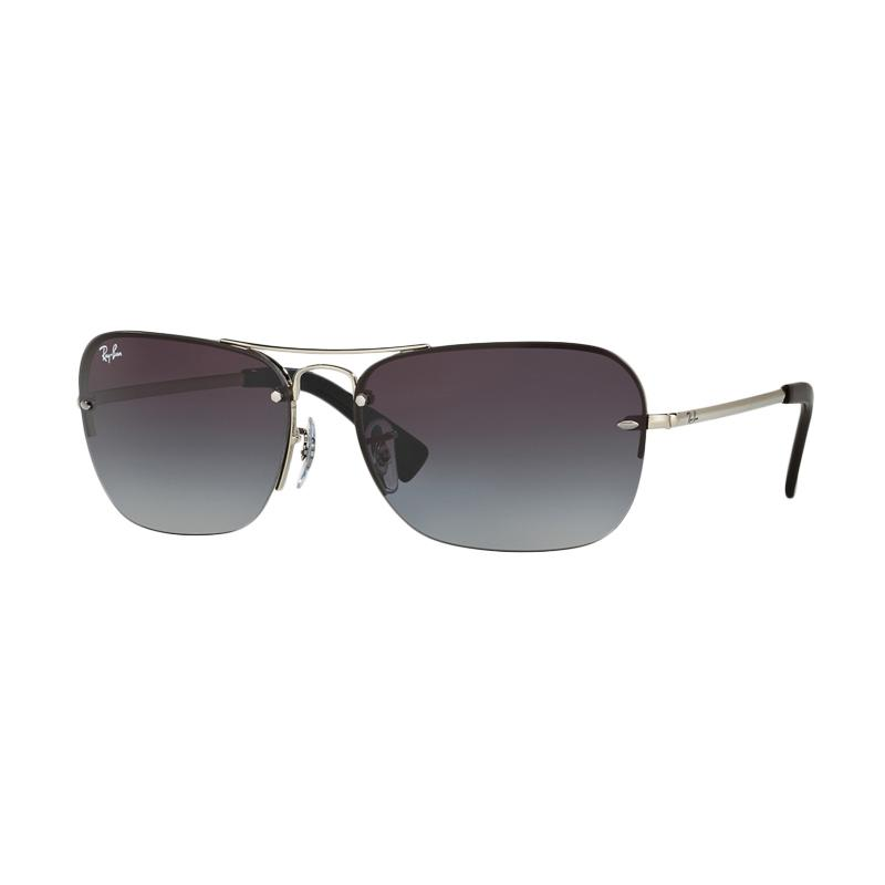 Ray-Ban 003-8G RB3541 Gray Gradient Sunglasses - Silver [Size 61]