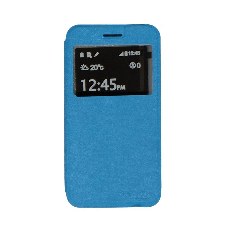 Aimi Flip Cover Casing for Smartfren Andromax B - Sky Blue