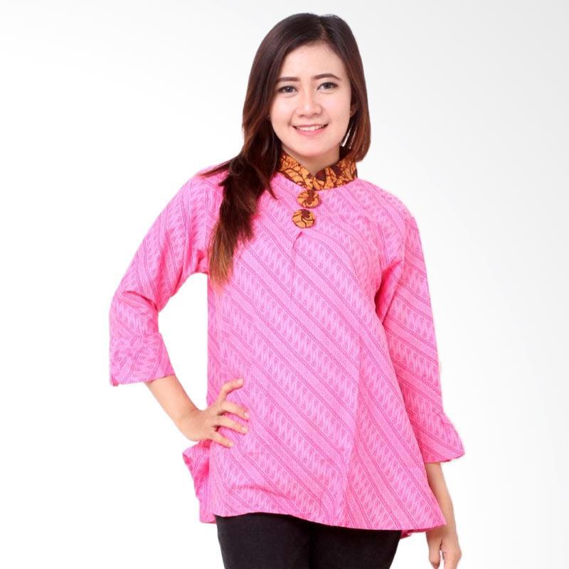 harga Batik Distro BA8057 Blus Wanita Shanghai A Line - Pink Blibli.com