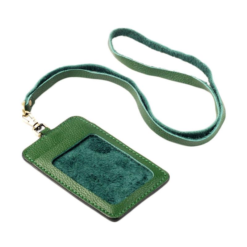 harga BLANKENHEIM Original BAM Leather ID Card Holder - Green Blibli.com
