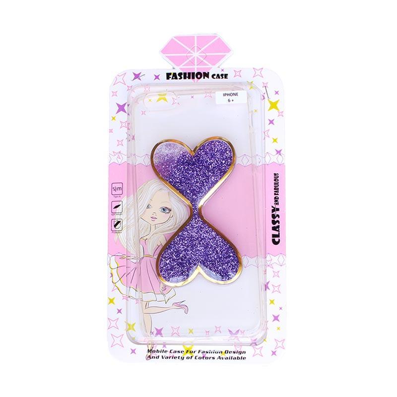 Fashion Gliter Love Casing for iPhone 6 Plus - Purple
