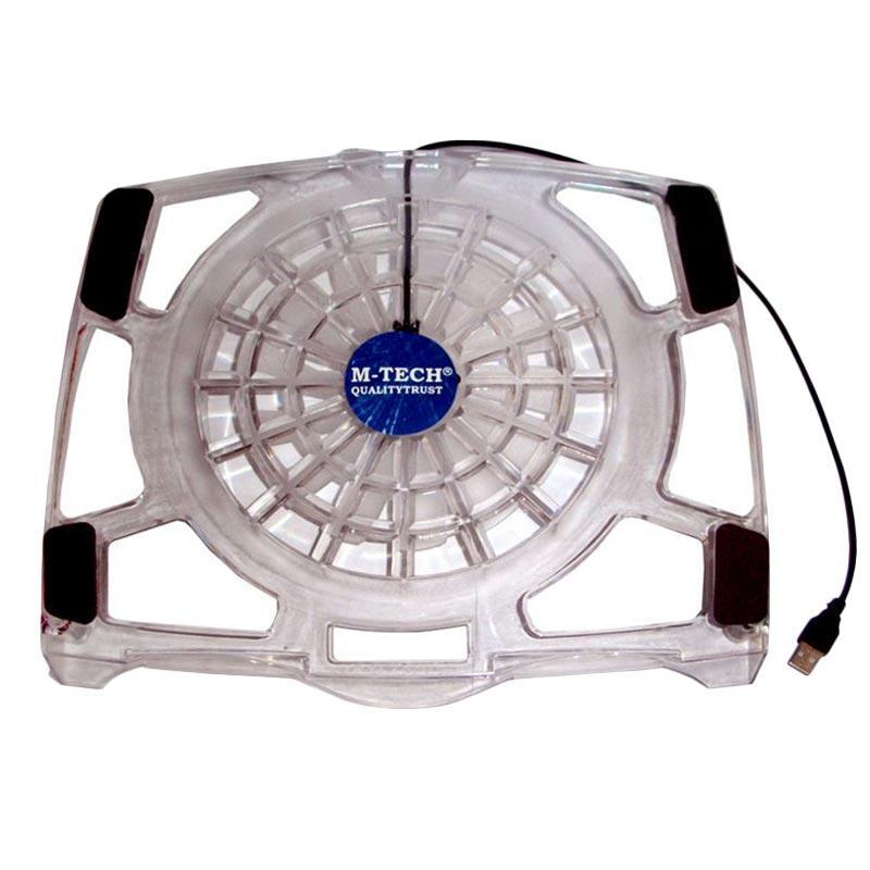 M-Tech M02 Transparan Cooling Pad Cooler Notebook - Putih