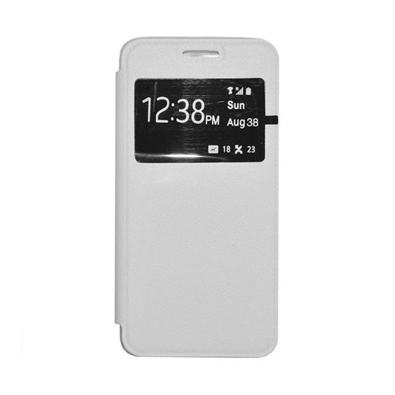 OEM Book Cover Leather Casing for Samsung Galaxy J1 - White