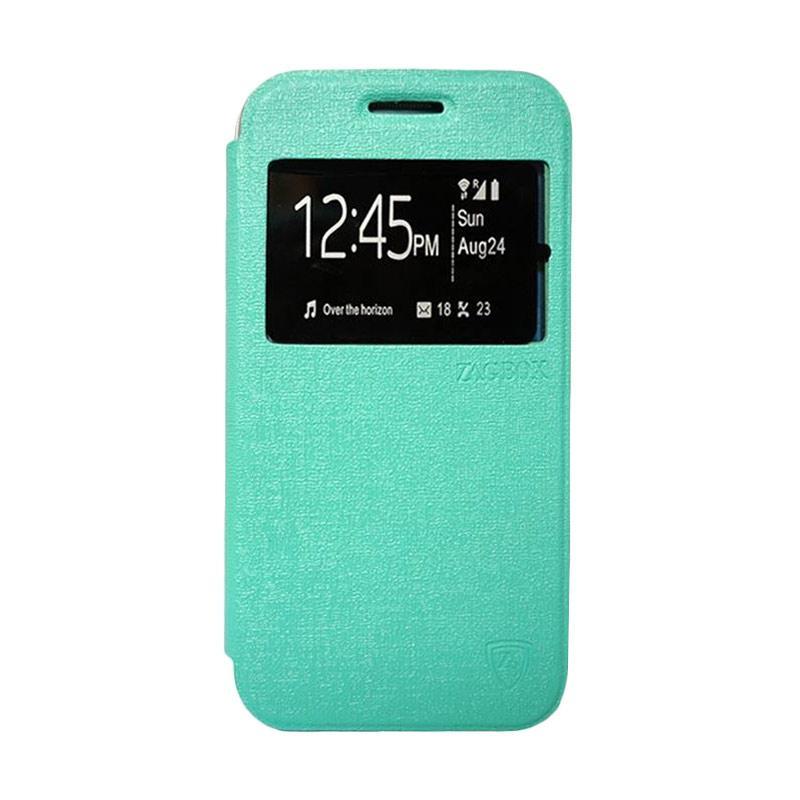 Zagbox Flip Cover Casing for Samsung Galaxy J1 Mini - Hijau Tosca