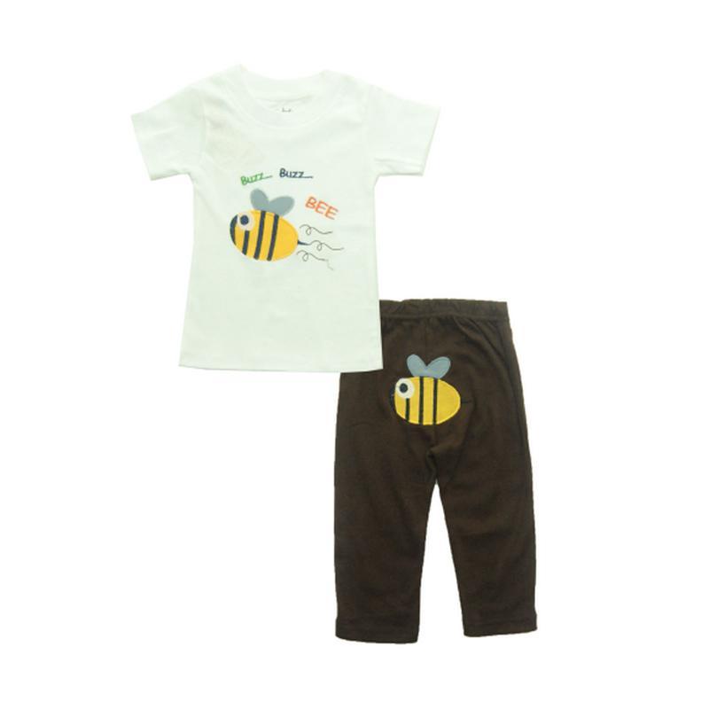 Bearhug Bee Set Pakaian Anak - Putih