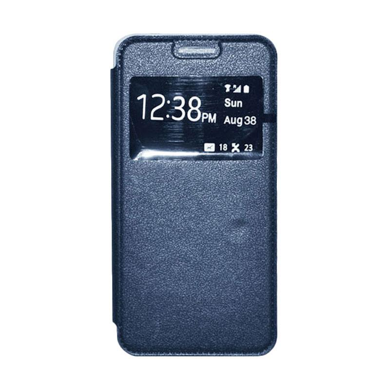OEM Leather Book Cover Casing for Samsung Galaxy S5 - Navy