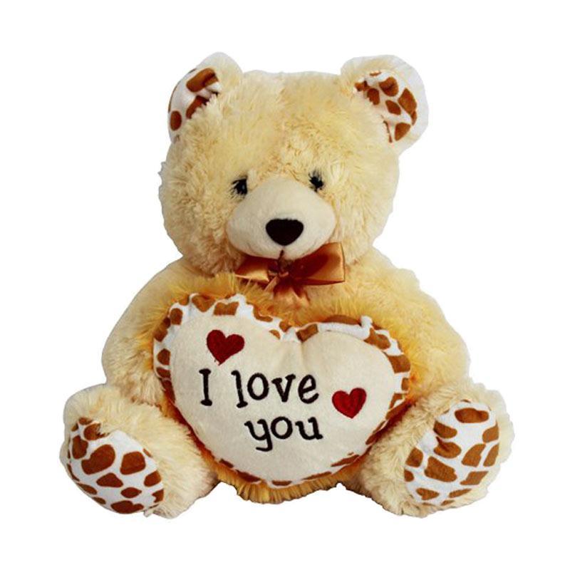 UNIKMO Bear Jerapah I Love You Boneka - Multicolor [30 cm]