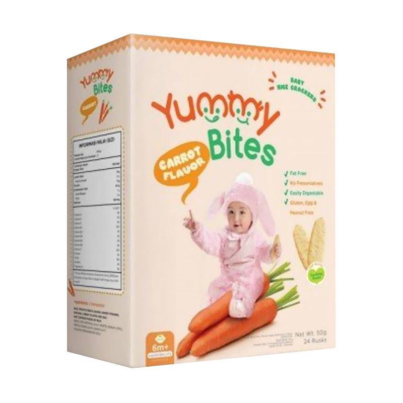 Yummy Bites ORGANIC Carrot Baby Rice Cracker [50 g]