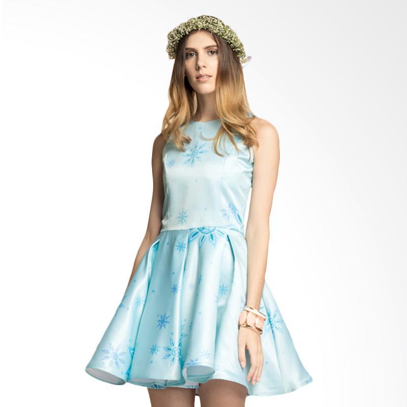Bateeq WD.005 Sleeveless Mini Dress with Truntum - Blue