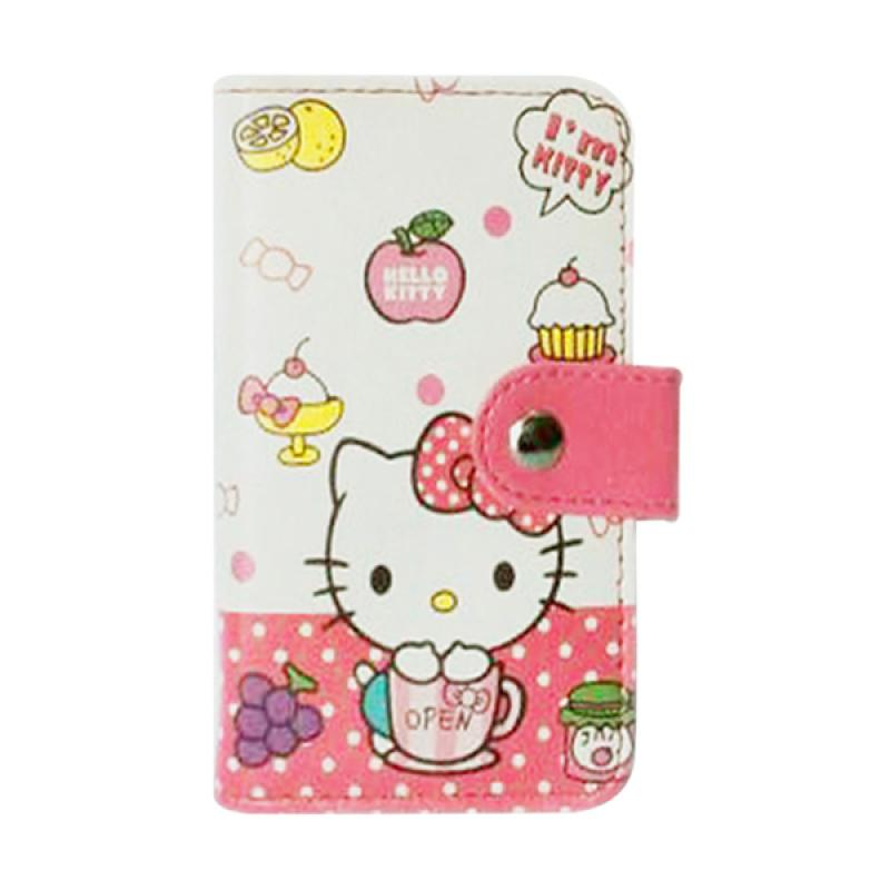 Hello Kitty HK Open Dompet Kartu - Putih Pink