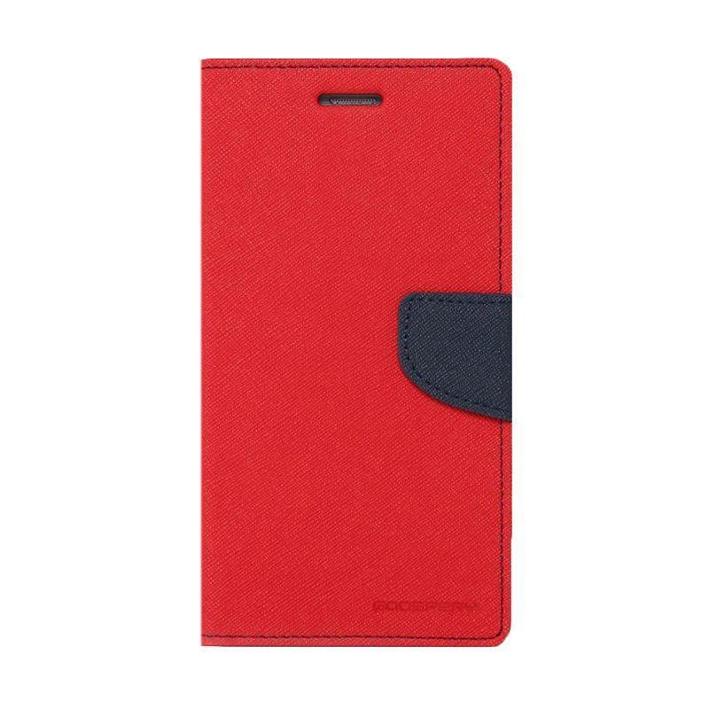 Mercury Fancy Diary Casing for iPhone 7 Plus - Merah Biru Laut