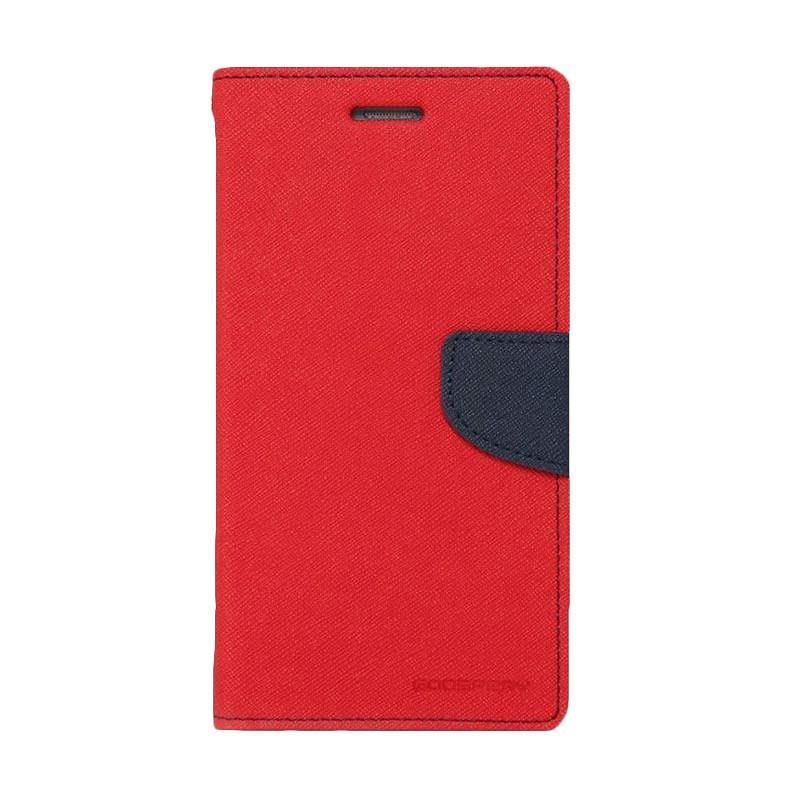Mercury Fancy Diary Casing for Oppo Find 7 X9077 - Merah Biru Laut