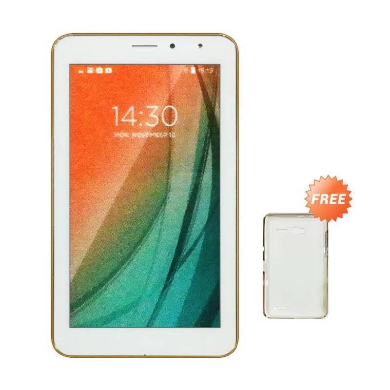 Advan Vandroid i7A Tablet - White [8GB/1 GB/4G LTE] + Free Silicon case
