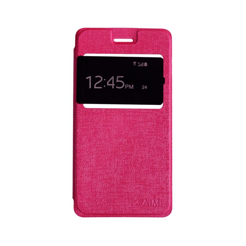 AIMI Flipshell Flipcase Flip Cover Casing for Oppo A57 - Pink
