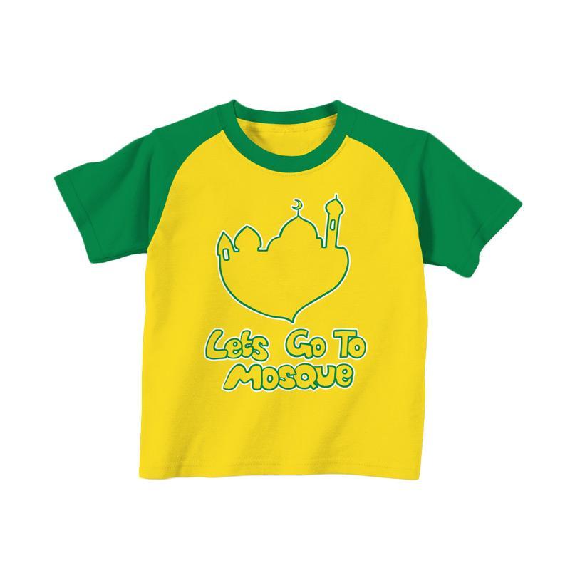 Aitana Kids AiK-16-011 Letsgo Kaos Muslim Anak Laki Laki - Kuning