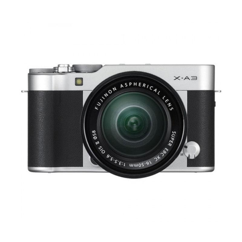 Fujifilm X-A3 Kit 16-50mm Kamera Mirrorless - Silver [24.2 MP]