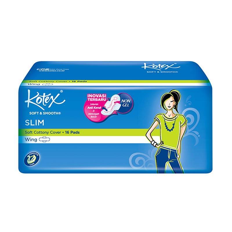 Kotex Soft & Smooth Slim Wing Pembalut Wanita [16 Pads]