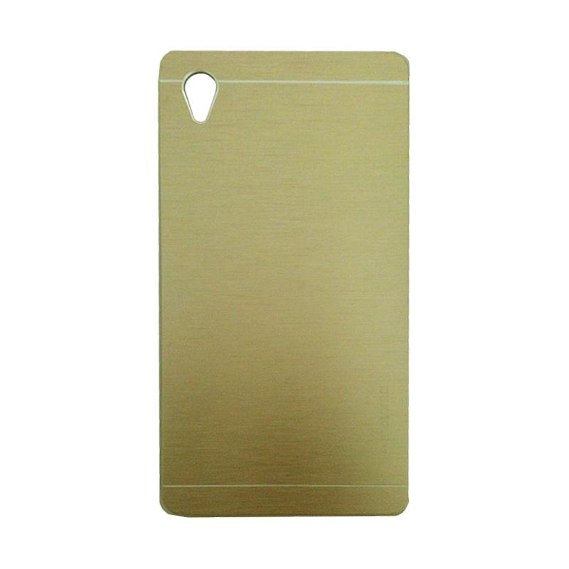 Motomo Metal Hardcase Casing for Sony Xperia M4 - Gold