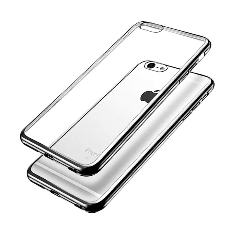OEM Shining Chrome Softcase Casing for iPhone 6S 4.7 Inch - Black