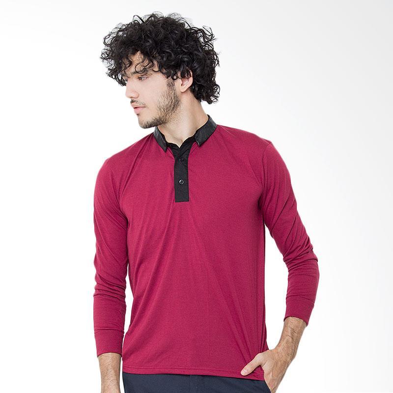Rave Habbit Men Long Sleeve Polo Shirt - Maroon Extra diskon 7% setiap hari Extra diskon 5% setiap hari Citibank – lebih hemat 10%