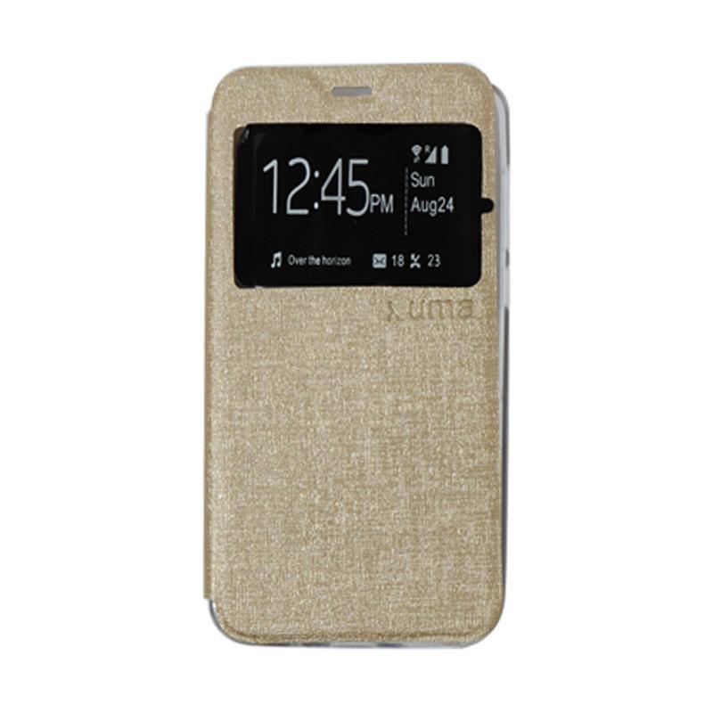 Uma Flip Cover Casing for Meizu M2 - Gold